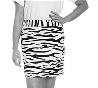 Royal And Awesome Ladies Zebra To Ze-Bar Golf Skort (White/Black)