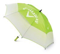 Callaway Ladies Solaire 60 Inch Double Canopy Umbrella (Lime/White)