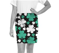 Royal And Awesome Ladies Paddy Par Golf Skort (Black/Green/White)