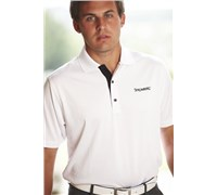 Stromberg Mens La Manga Cool Dry Golf Shirt (White)