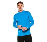 Oakley Mens Lay-A-Patch Mock Neck Shirt (Fluid Blue)