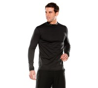 Oakley Mens Lay-A-Patch Mock Neck Shirt (Jet Black)