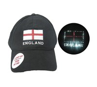 England Patriotic Golf Cap with Light (Black)