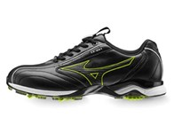 Mizuno Mens Light Style Golf Shoes (Black/Lime)