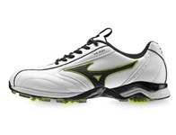 Mizuno Mens Light Style Golf Shoes (White/Lime)