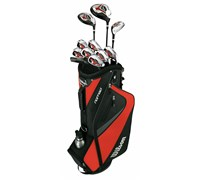 Wilson Mens Linear XD Golf Package Set 1 Inch Longer  Steel/Graphite