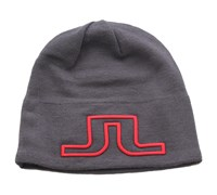 J Lindberg Wool Blend Logo Beanie (Dark Grey)