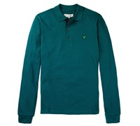 Lyle and Scott Mens Tartan Elbow Polo Shirt 2014 (Green)