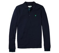 Lyle and Scott Mens Tartan Elbow Polo Shirt 2014 (New Navy)