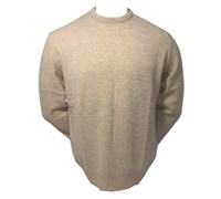 Lyle and Scott Mens Crew Neck Lambswool Sweater 2013 (Stone)