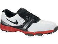 Nike Mens Lunar Saddle Golf Shoes (White/Black/Red) 2013