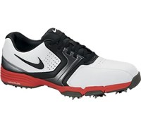 Nike Mens Lunar Saddle Golf Shoes 2013 (White/Black/Red)