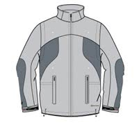 Sunice Mens Lyneham Waterproof Convertible Jacket (Platinum)