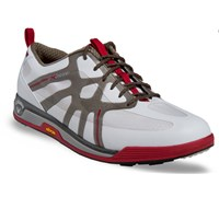 Callaway Mens X Cage Vibe Spikeless Golf Shoes 2014 (White/Grey/Red)