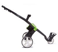 GoKart Manual Electric Trolley (Black/Green)