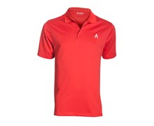 Royal And Awesome Mens Golf Polo Shirt (Red)