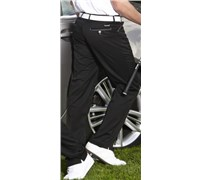 Stromberg Mens Funky Mijas Golf Trouser (Black/Grey Thin Trim)