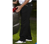 Stromberg Mens Funky Mijas Golf Trouser (Black/White Thin Trim)