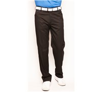 Stromberg Mens Funky Mijas Golf Trouser (Black/Blue Thin Trim)