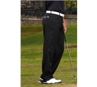 Stromberg Mens Funky Mijas Golf Trouser (Black/Grey Trim)