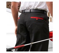Stromberg Mens Funky Mijas Golf Trouser (Black/Red Trim)