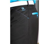 Stromberg Mens Funky Mijas Golf Trouser (Black/Teal Pocket Trim)