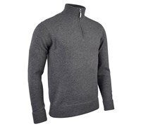 Glenmuir Mens Coll Zip Neck Lambswool Golf Sweater 2014 (Grey Mix)