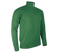Glenmuir Mens Coll Zip Neck Lambswool Golf Sweater 2014 (Grove)