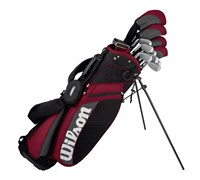 Wilson MOI Complete Golf Package Set 1 Inch Longer  Steel/Graphite
