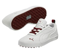 Puma Golf Mens Monolite Spikeless Perforated Golf Shoes 2014 (White/Maroon)