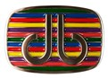 Druh Stripe Multi Coloured Belt Buckle