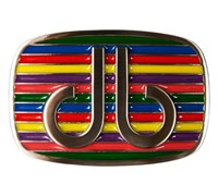 Druh Stripe Multi Coloured Belt Buckle (Multi Coloured)