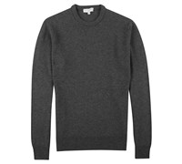 Lyle and Scott Mens Crew Neck Lambswool Sweater 2013 (Charcoal Melange)