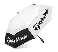 TaylorMade TP 64 Inch Double Canopy Golf Umbrella 2014 (White/Black)