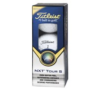 Titleist NXT Tour S White Golf Balls  2 Ball Sleeve