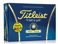 Titleist NXT Tour Golf Balls with 3 Free Sharpies (12 Balls)