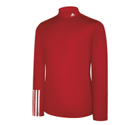Adidas Mens ClimaLite Thermal Compression 3 Stripe Baselayer (Red)