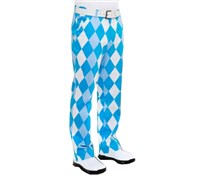 Royal And Awesome Mens Old Toms Trews Golf Trousers (Sky Blue/White)
