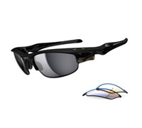 Oakley Fast Jacket Interchangeable Polarised Sunglasses 2013 (Polished Black/G30)