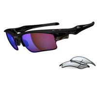 Oakley Fast Jacket XL Sunglasses (OO9156-19 Polished Black)