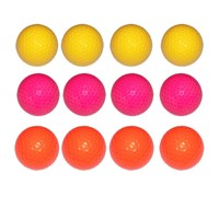 Links Choice Coloured Optic Golf Balls (Multi Coloured)