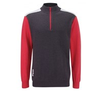 Ping Collection Mens Bowland Golf Sweater 2013 (Smoke Marl/Faded Red)