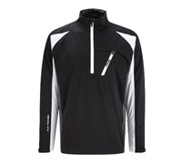 Ping Collection Mens Half Zip TopSpin Waterproof Jacket (Black/White)