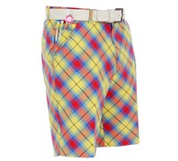 Royal and Awesome Plaid Awesome Golf Shorts (Yellow)