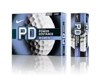 Nike Power Distance PD8 Ladies Golf Balls (White - 12 Balls)