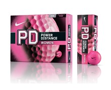 Nike Power Distance PD8 Ladies Golf Balls  Pink - 12 Balls