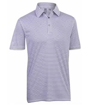 Ashworth Pencil Stripe Polo Shirt