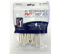 PGA Tour Performance Reduced Friction Tees (White)