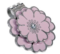 Navika Ball Markers With Crystals (Pink Flower)