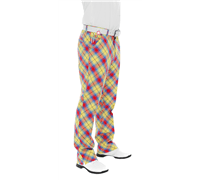 Royal And Awesome Plaid Awesome Golf Trouser (Yellow)